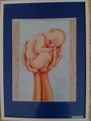 Bebés en la mano. Yza
