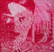 Victimes Peinture surréaliste monochrome. Andreas Toth