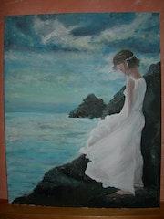 Mujer en Acantilado. Veronica Panadero