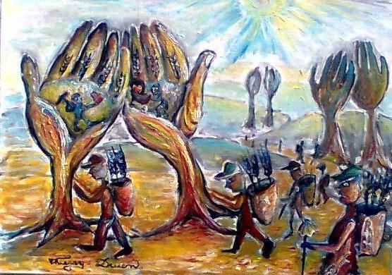 Las manos en la mañana, o al amanecer es un eterno volver. Thierry Druon Thierry Druon