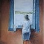 Mujer jóven en la ventana. Joel Geffroy