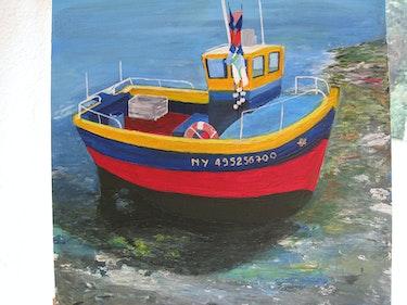 pequeño puerto pesquero de Sauzon. Pierre Cargoët