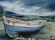 Boat Strandung. Houmeau