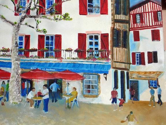 Die Bar im Herzen der Marine des Baskenlandes. Patrice Castillejos Pat