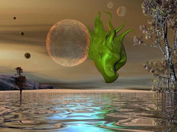 Landscape Plasma 129 - The spirit of a Faun -. Micheline Laufer Lauferartsuisse