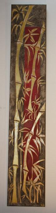 Erinnerungen an vergoldeten Bambus Asien. Juliette Carlier