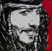 Piratas del Caribe: Johnny Depp.