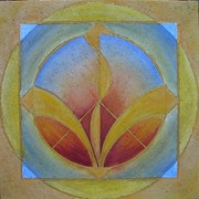 Kinesiogramm in sacred geometry, energizing, fire and water element.