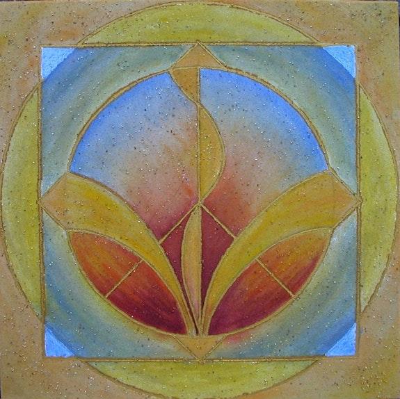Kinesiogramm in der heiligen Geometrie, Kraftspendend, Feuer und Wasser Element.  Ailyn