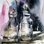 Une nature morte pleine de poésie… Effet de verre…. Catherine Rey