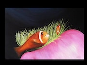 Sea anemone and two clowns. Virginie Fanchin