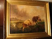 Brascassat Jacques-Raymond (1804-1867) «Battle of Ochsen». La Galerie d'Alexandre