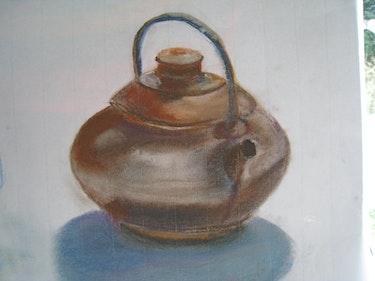 Teapot. Pastel study. Pierre Cargoët