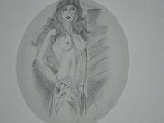 Weiblicher Akt mit Bleistift. Valerie Barghout