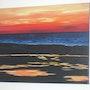 Sunset at sea. Marie José Fournier