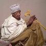 la meditación peregrina etíopes (de una foto de G. Gall). Michèle Duretête-Brodel