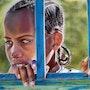 Warten in Äthiopien (aus einem Foto von G. Gallen). Michèle Duretête-Brodel