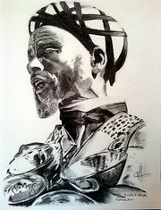 Water Carrier (Charcoal portrait).