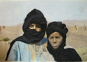 Young Berber in southern Morocco (pastel).