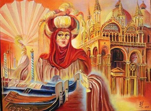 Evocation of the Carnival of Venice. Marie-Claude Lempereur Laurent Marie-Claude