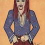 Hippie - peinture originale - Jacqueline_Ditt. Universal Arts Galerie Studio Gmbh