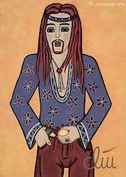 Hippie - pintura original - Jacqueline_Ditt.