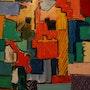 Essais de composition avec ma palette remplie de couleurs. Andre Blanc