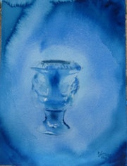Urna en azul.