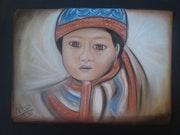 Niño del Tíbet. Nathalie Mellal
