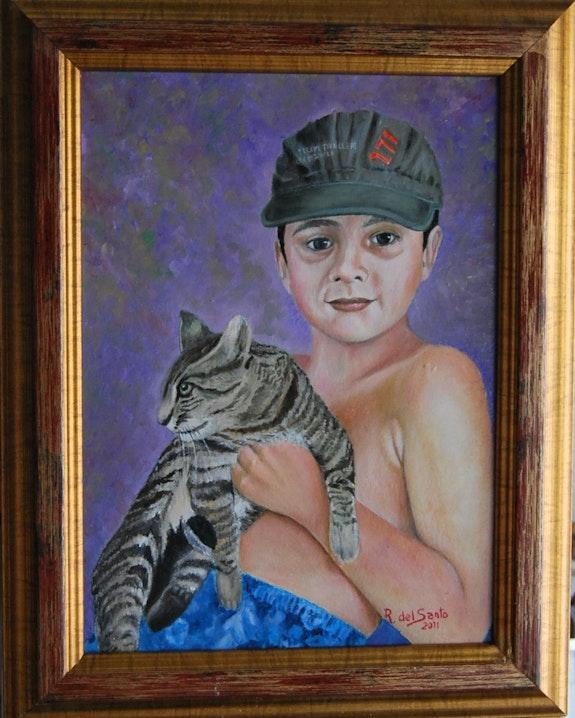 Illán und ihre Katze. Rafael Del Santo Rafael Del Santo