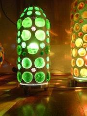 Cactus lámpara de mesa.