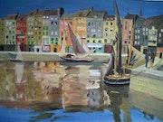 Hafen von Honfleur, 1901. Felix Vallotton.