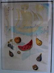 Schiffe und Blumen (Entdeckung Amerikas). Monique Bertrand