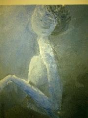 La mujer de azul.