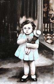 Ninon, kleine Mädchen mit der Puppe..