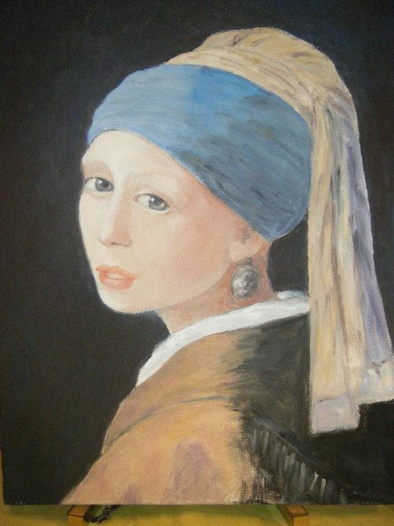 La joven de la perla de Vermeer. Salsera Salsera