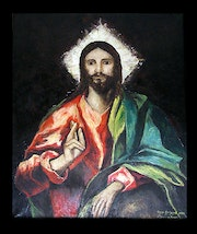 Christ Pantocrator. From El Greco.