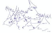 """Skizzen zu illustrieren Kinderbuch """"Die Geschichte von Jeannot Tanne"""". Dulac (Jean Dulac Fils)"""