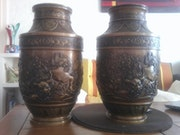 2 Asian Bronze Vases. Négoce Antique