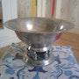 Coupe milieu de table en mètal Argentè. Négoce Antique
