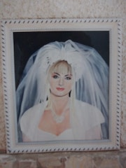 Portrait of my eldest daughter on her wedding day.