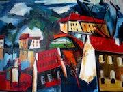 Das Dorf, Kopie nach Mr. De Vlaminck. Diana. K