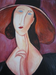 The woman in the hat, a copy of A. Modigliani. Diana. K