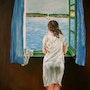 La muchacha en la ventana, copia de S. Dalí. Diana. K