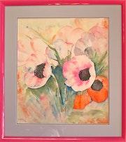 Die rosa Anemonen.