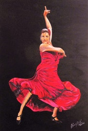 Flamenco-Lady in Red.