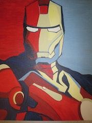 Iron Man Esperanza lienzo de pintura de aceite. Cryptic Art
