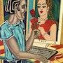 CyberRomance - peinture originale - Jacqueline_Ditt. Universal Arts Galerie Studio Gmbh