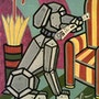 Cyberdog - Original painting - Jacqueline_Ditt. Universal Arts Galerie Studio Gmbh