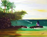 """Tropico"" oil painting tropical landscapes of Latin America."
